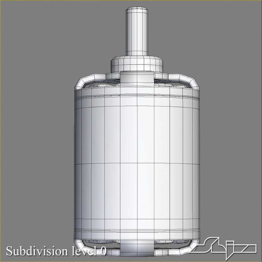 Electric Motor 2 Simplified royalty-free 3d model - Preview no. 10