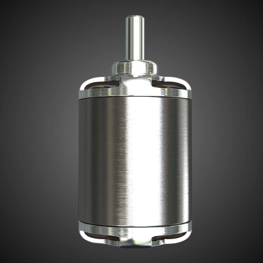 Electric Motor 2 Simplified royalty-free 3d model - Preview no. 4