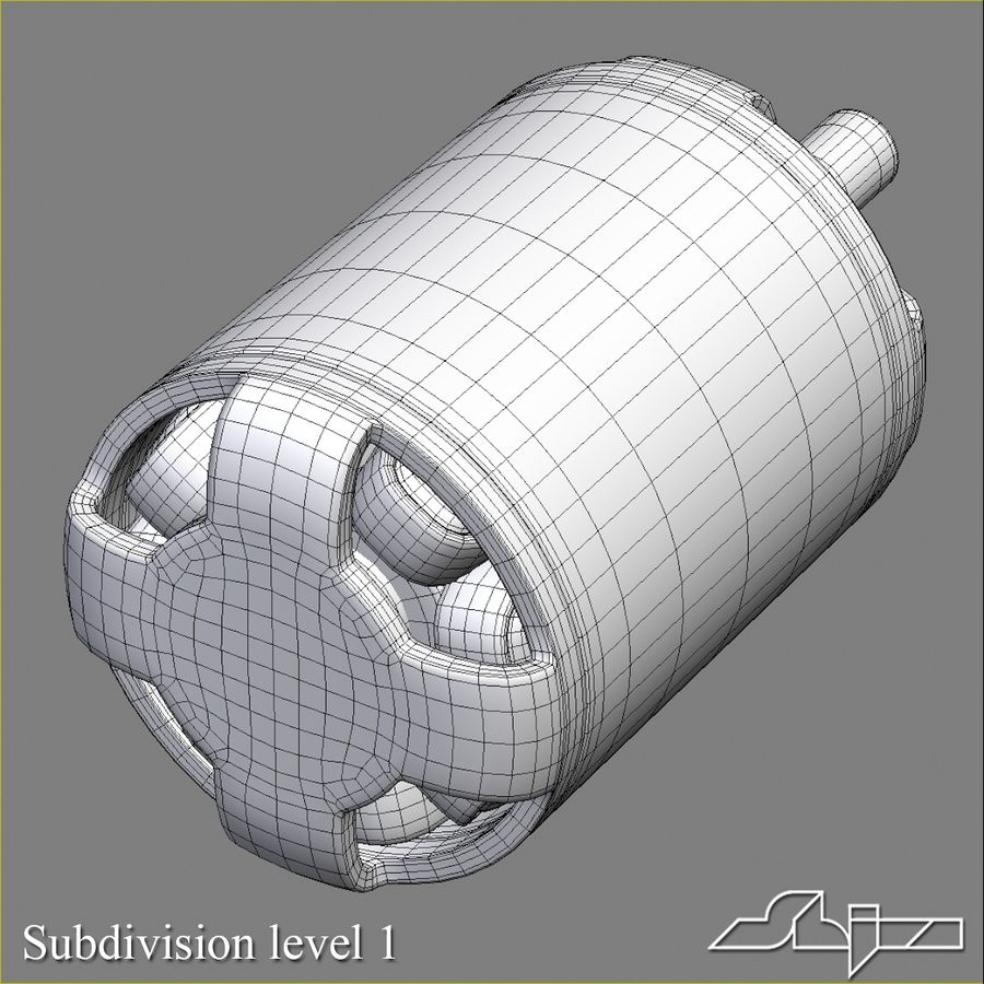 Electric Motor 2 Simplified royalty-free 3d model - Preview no. 9