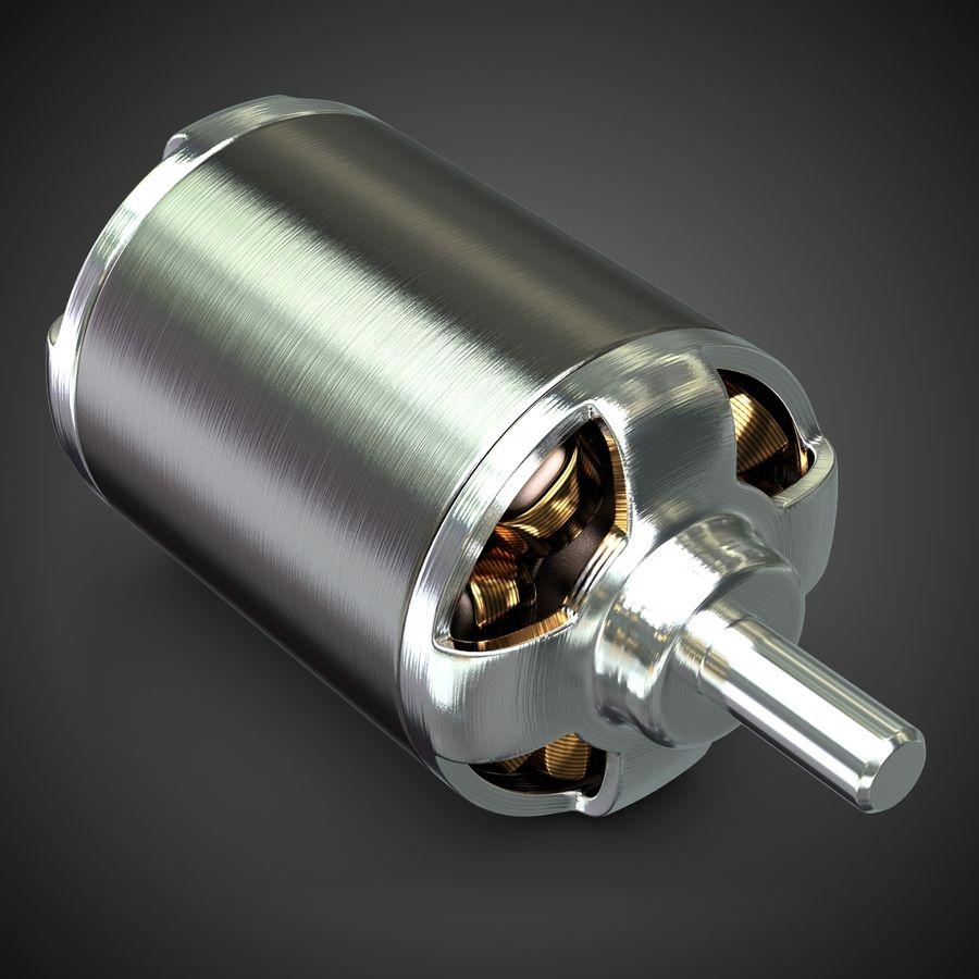 Electric Motor 2 Simplified royalty-free 3d model - Preview no. 2