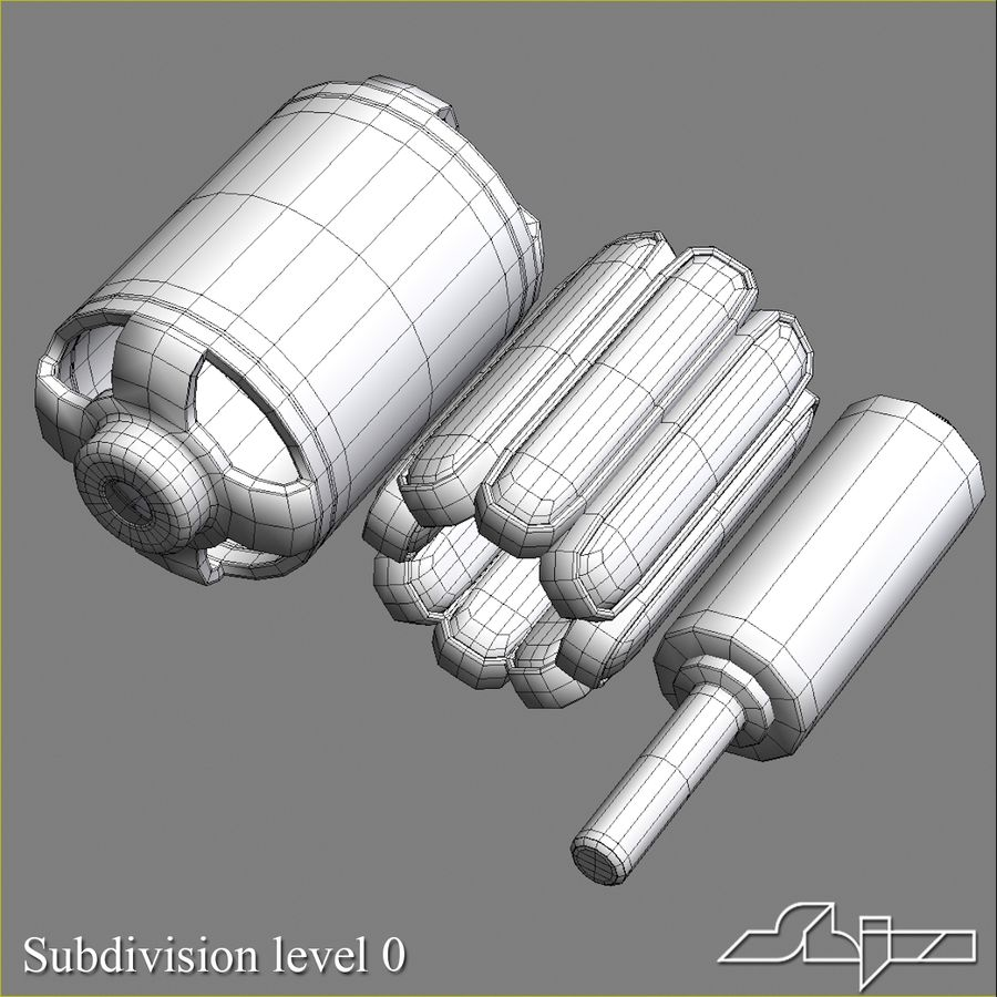 Electric Motor 2 Simplified royalty-free 3d model - Preview no. 12