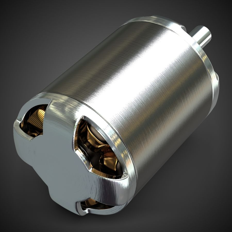 Electric Motor 2 Simplified royalty-free 3d model - Preview no. 3