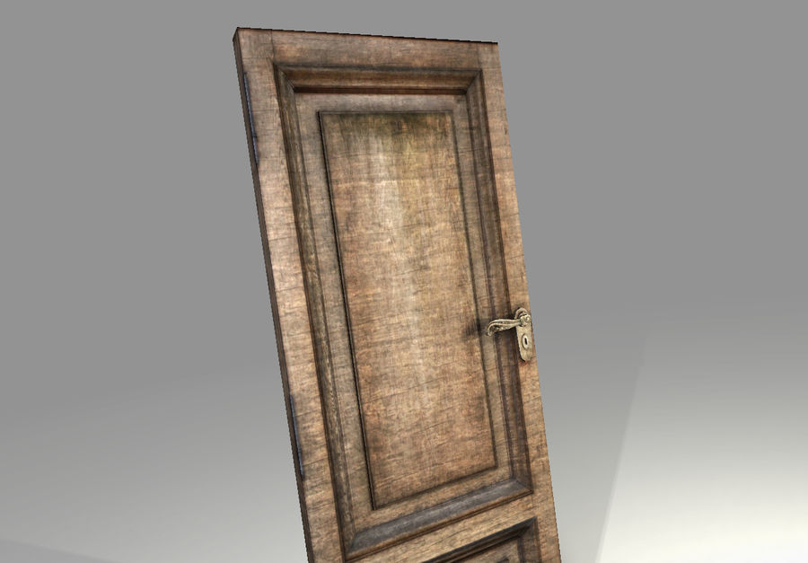 Old Door royalty-free 3d model - Preview no. 4
