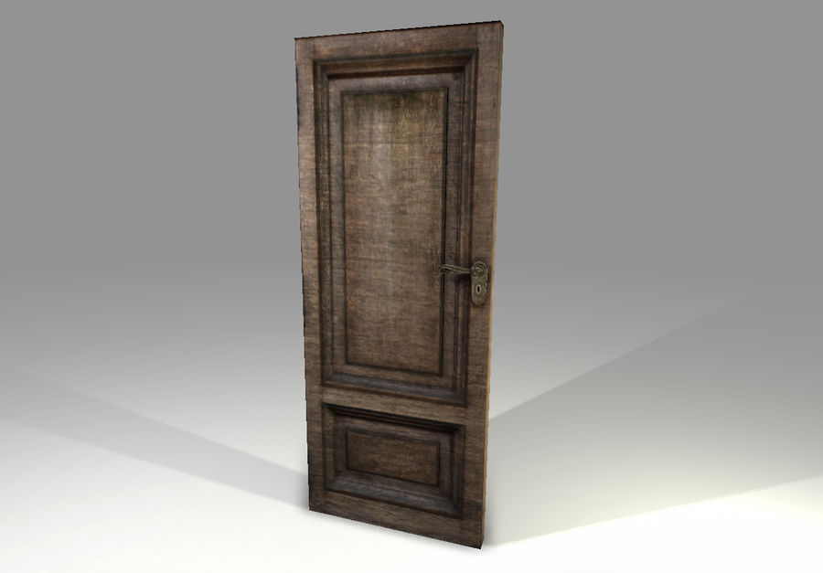 Old Door royalty-free 3d model - Preview no. 2