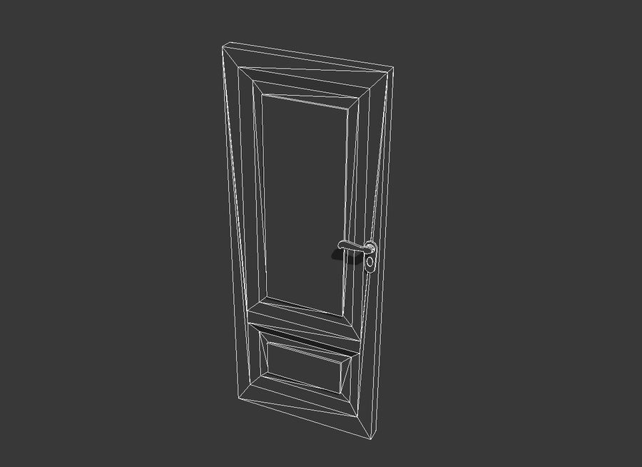 Old Door royalty-free 3d model - Preview no. 6