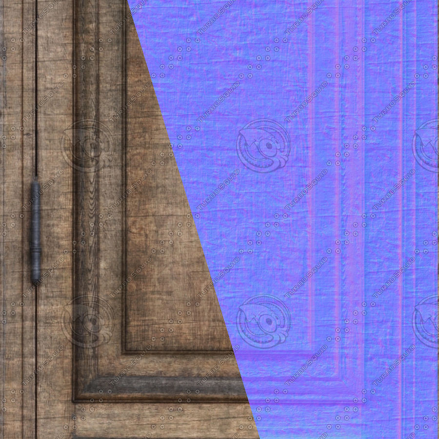 Old Door royalty-free 3d model - Preview no. 8