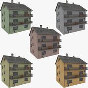 Apartmanın bir koleksiyon 3d model