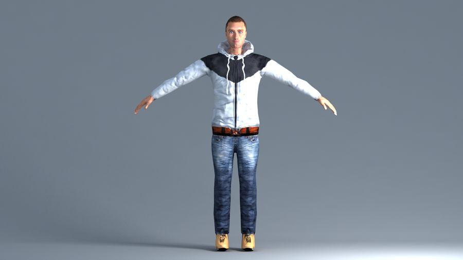 Mężczyzna royalty-free 3d model - Preview no. 2