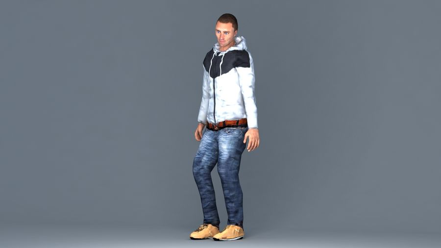 Mężczyzna royalty-free 3d model - Preview no. 1
