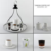 Кофейный сервиз / турецкий кофе 3d model