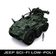 Jeep sci-fi 3d model