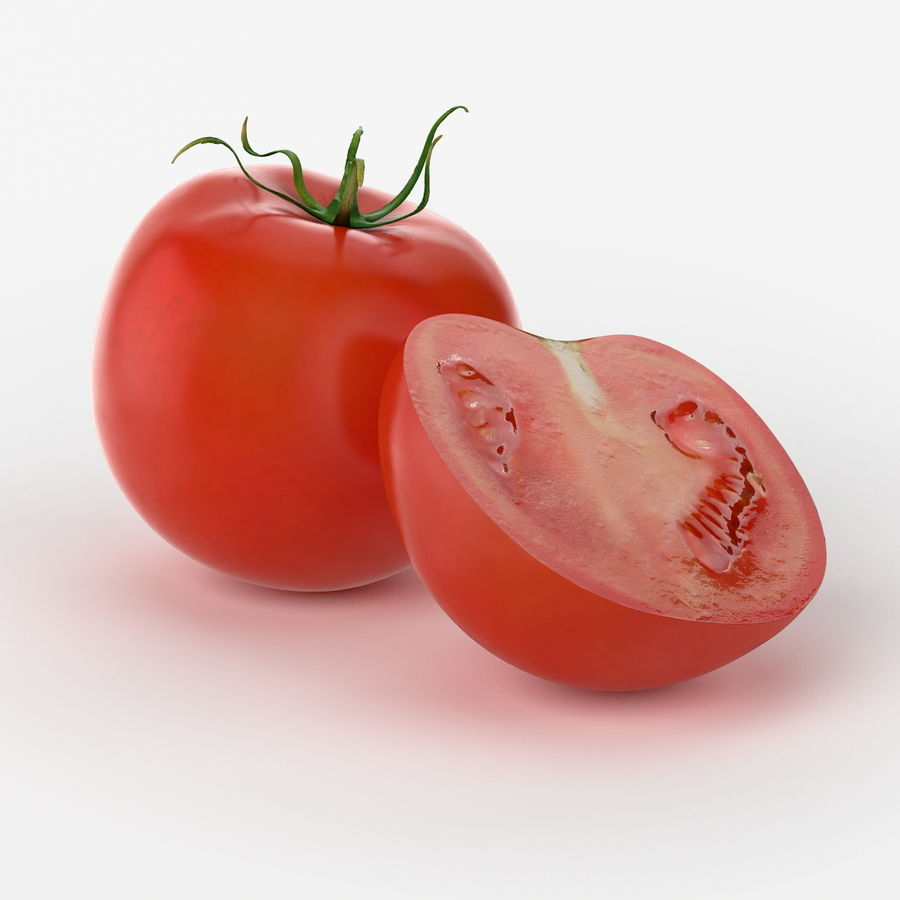 Realistic Tomato royalty-free 3d model - Preview no. 2