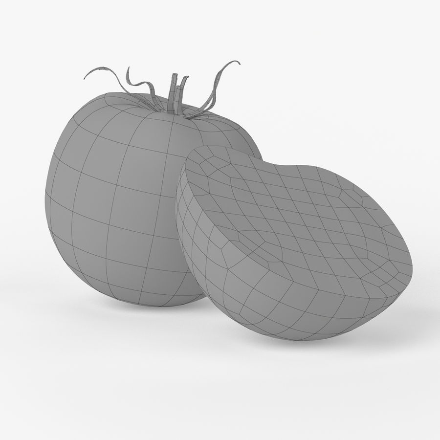 Realistic Tomato royalty-free 3d model - Preview no. 7