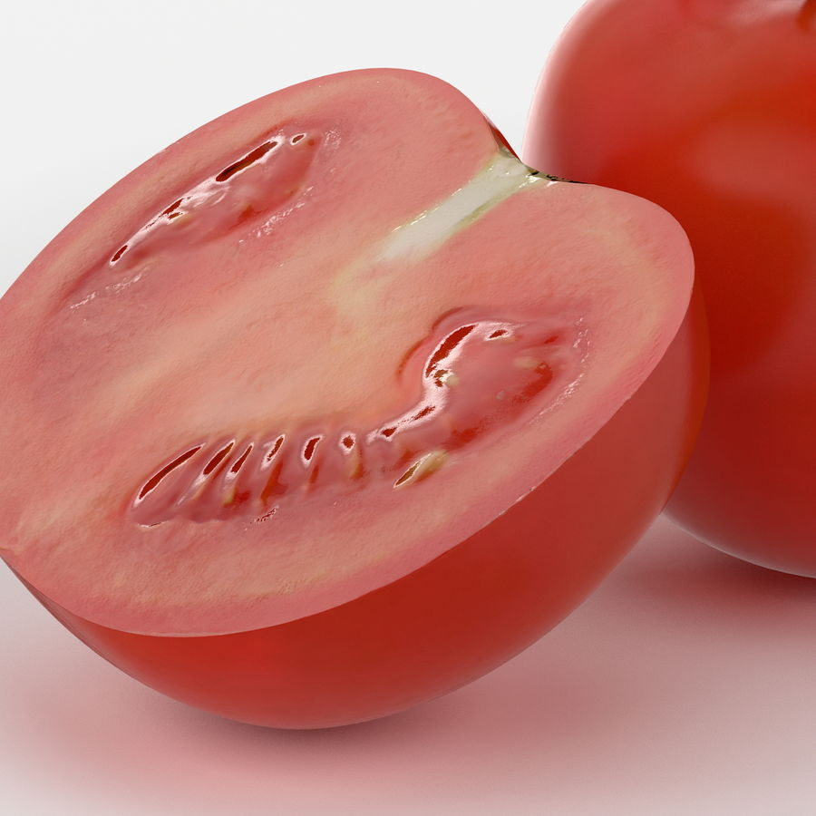 Realistic Tomato royalty-free 3d model - Preview no. 6