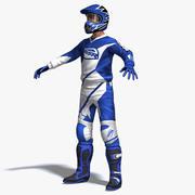 Motocross Rider 3d model