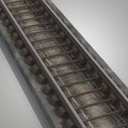 지하철 레일 3d model