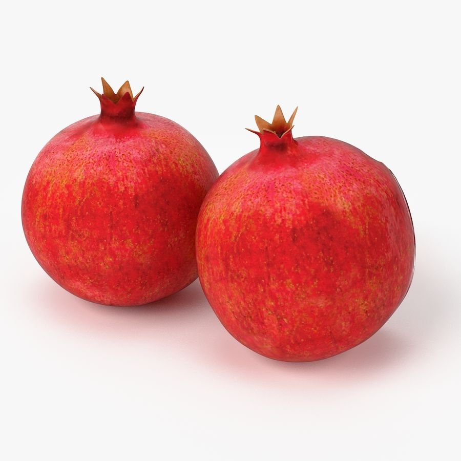 Realistic Pomegranate royalty-free 3d model - Preview no. 3