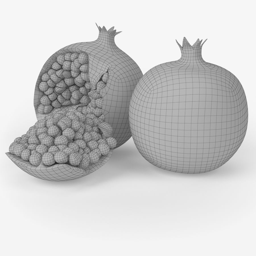 Realistic Pomegranate royalty-free 3d model - Preview no. 8