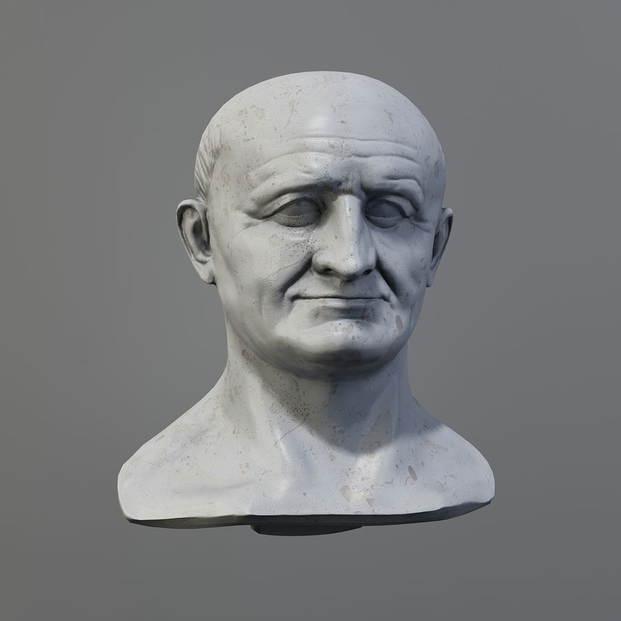 Vespasian royalty-free 3d model - Preview no. 3