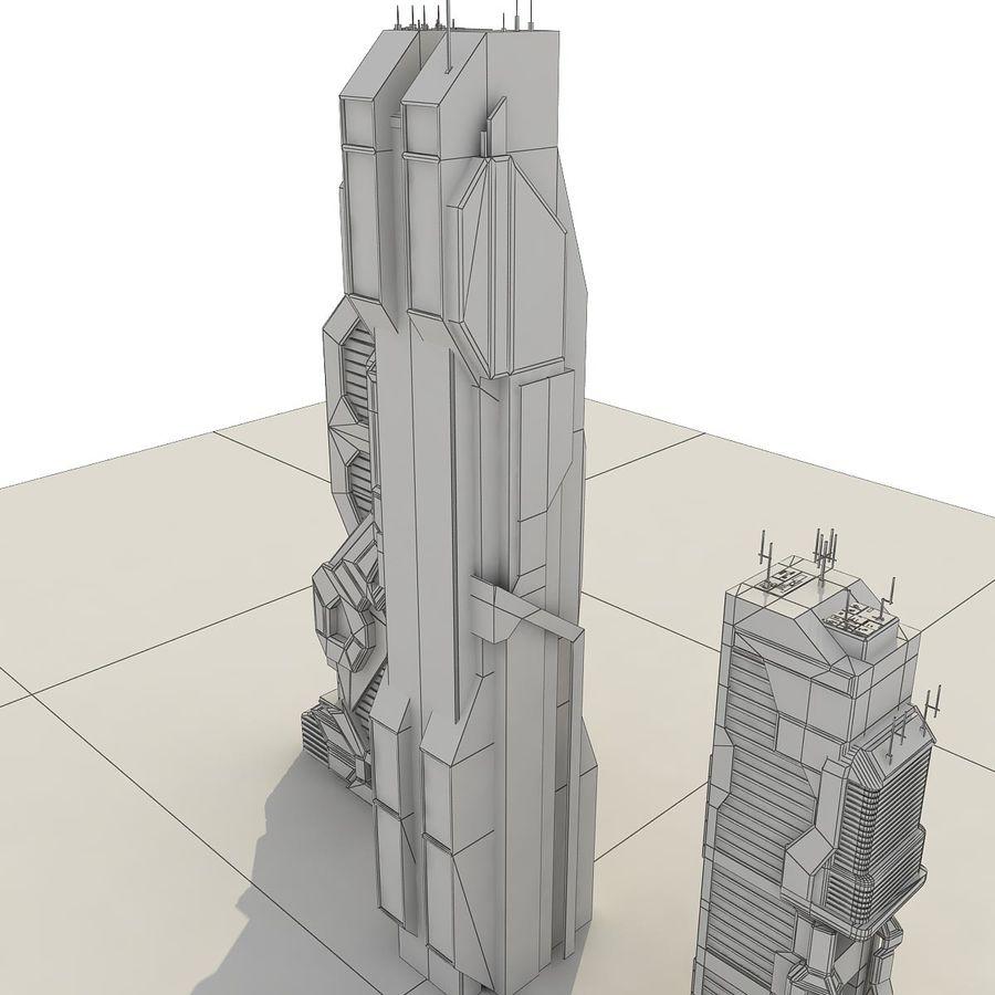 Sci-Fi City Futuristic 9 3D Model $39 -  max  obj  fbx - Free3D