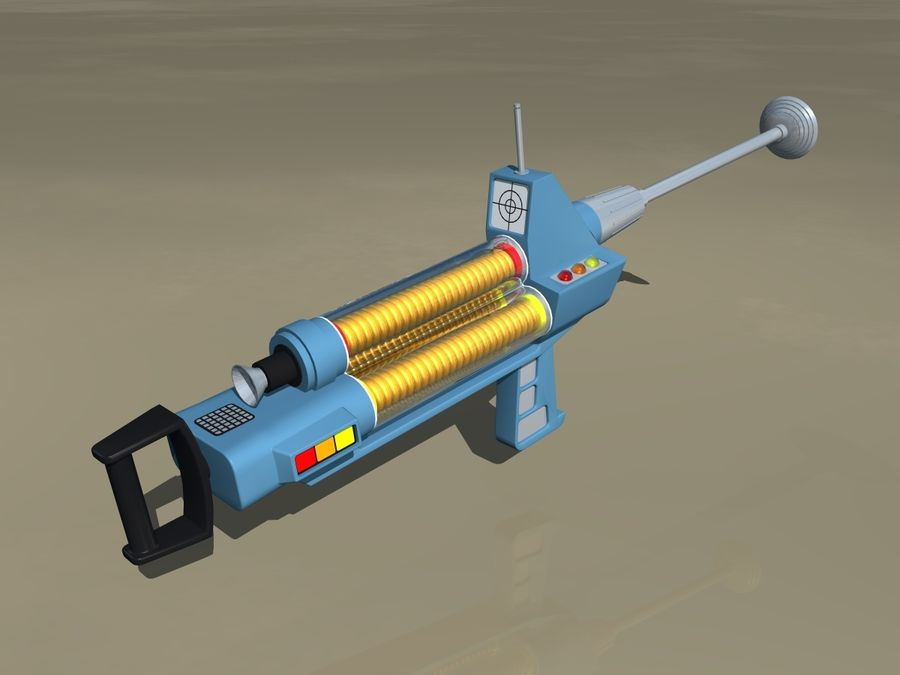 Phaser Rifle royalty-free 3d model - Preview no. 3