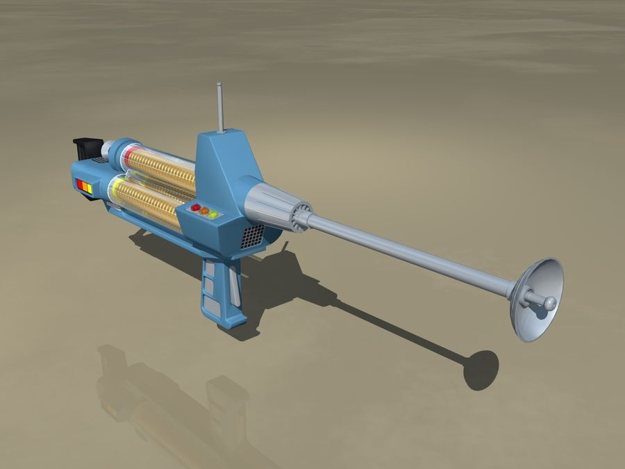 Phaser Rifle royalty-free 3d model - Preview no. 1