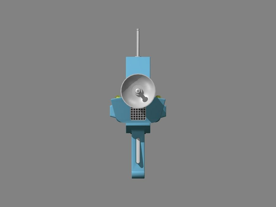 Phaser Rifle royalty-free 3d model - Preview no. 5