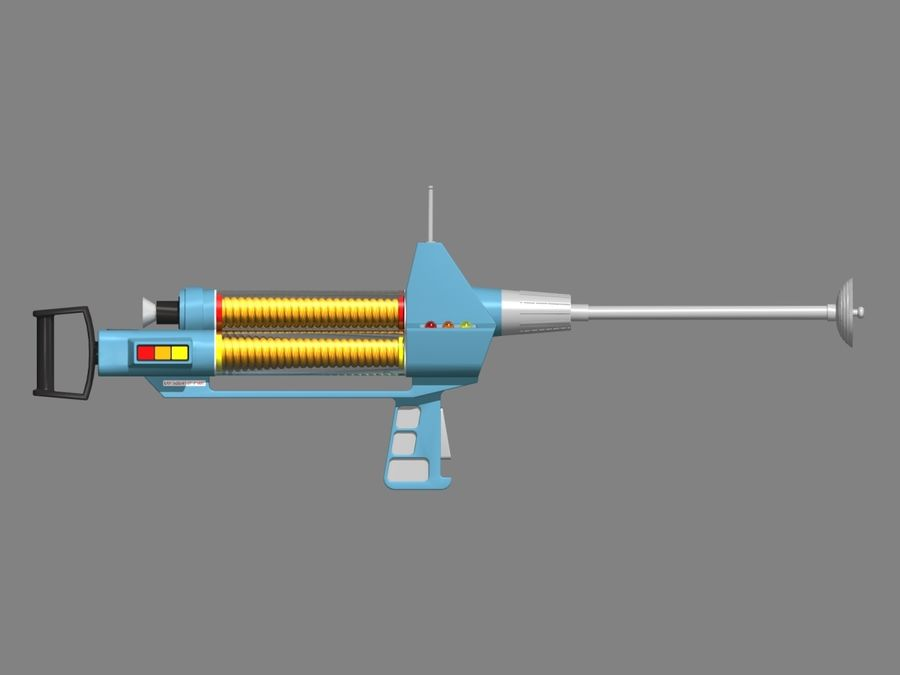 Phaser Rifle royalty-free 3d model - Preview no. 4