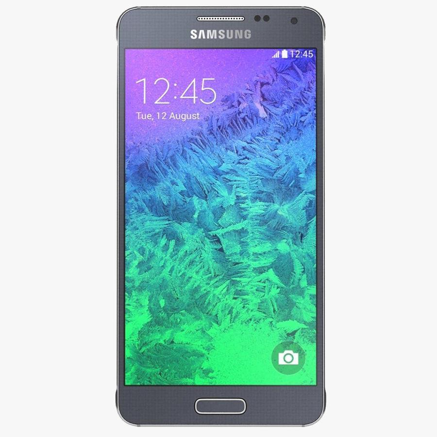 Samsung Galaxy Alpha Preto Carvão royalty-free 3d model - Preview no. 1