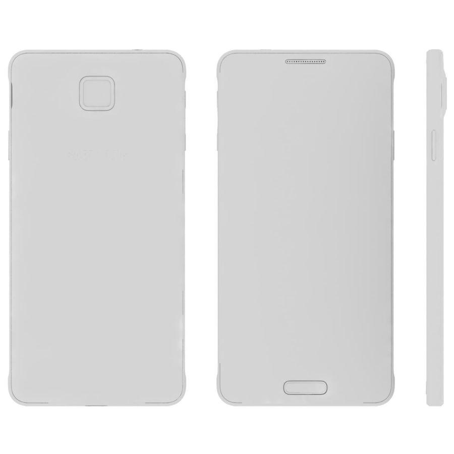 Samsung Galaxy Alpha Preto Carvão royalty-free 3d model - Preview no. 27