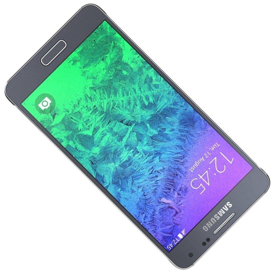 Samsung Galaxy Alpha Preto Carvão royalty-free 3d model - Preview no. 17