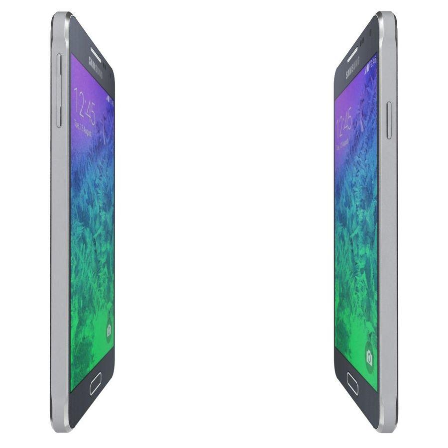 Samsung Galaxy Alpha Preto Carvão royalty-free 3d model - Preview no. 11