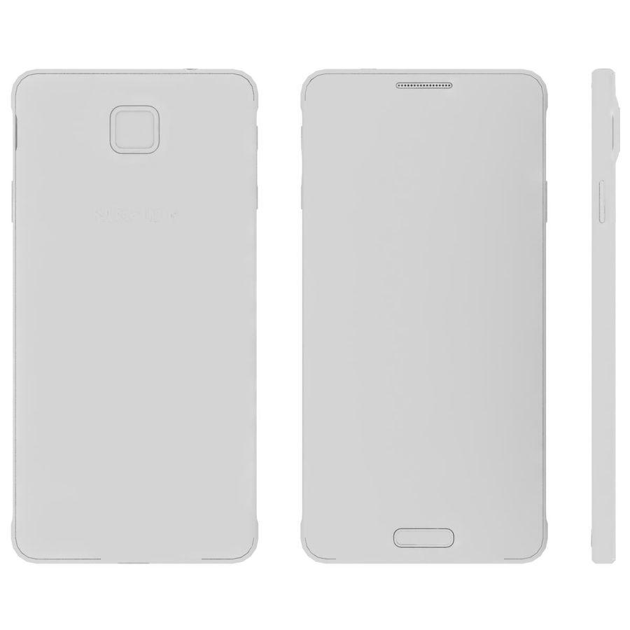 Samsung Galaxy Alpha Preto Carvão royalty-free 3d model - Preview no. 25