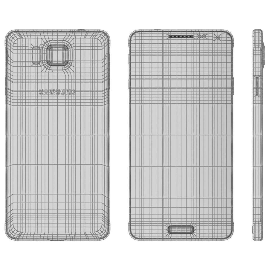 Samsung Galaxy Alpha Preto Carvão royalty-free 3d model - Preview no. 24