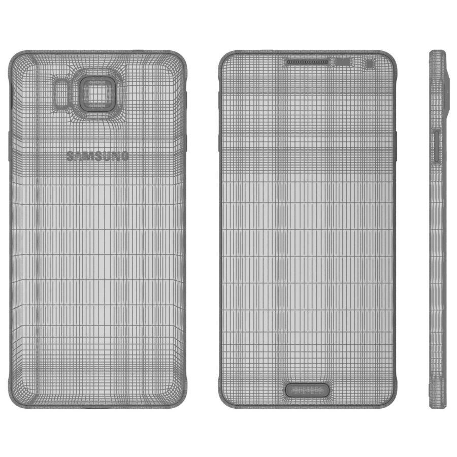 Samsung Galaxy Alpha Preto Carvão royalty-free 3d model - Preview no. 26