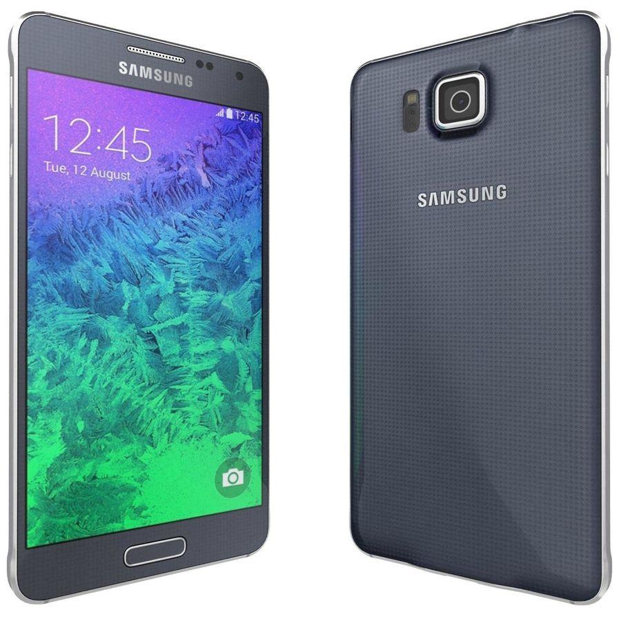 Samsung Galaxy Alpha Preto Carvão royalty-free 3d model - Preview no. 5