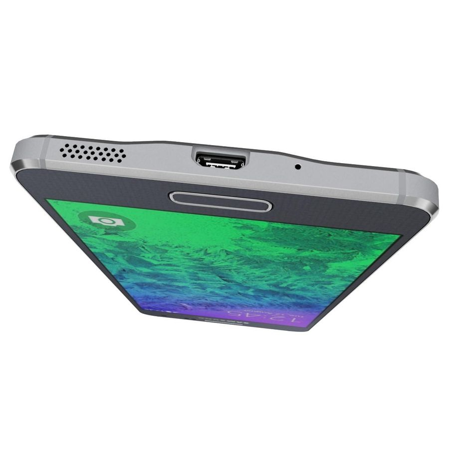 Samsung Galaxy Alpha Preto Carvão royalty-free 3d model - Preview no. 14