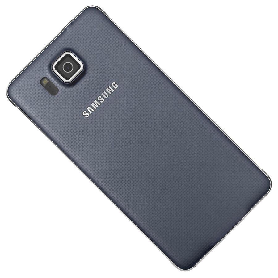 Samsung Galaxy Alpha Preto Carvão royalty-free 3d model - Preview no. 23