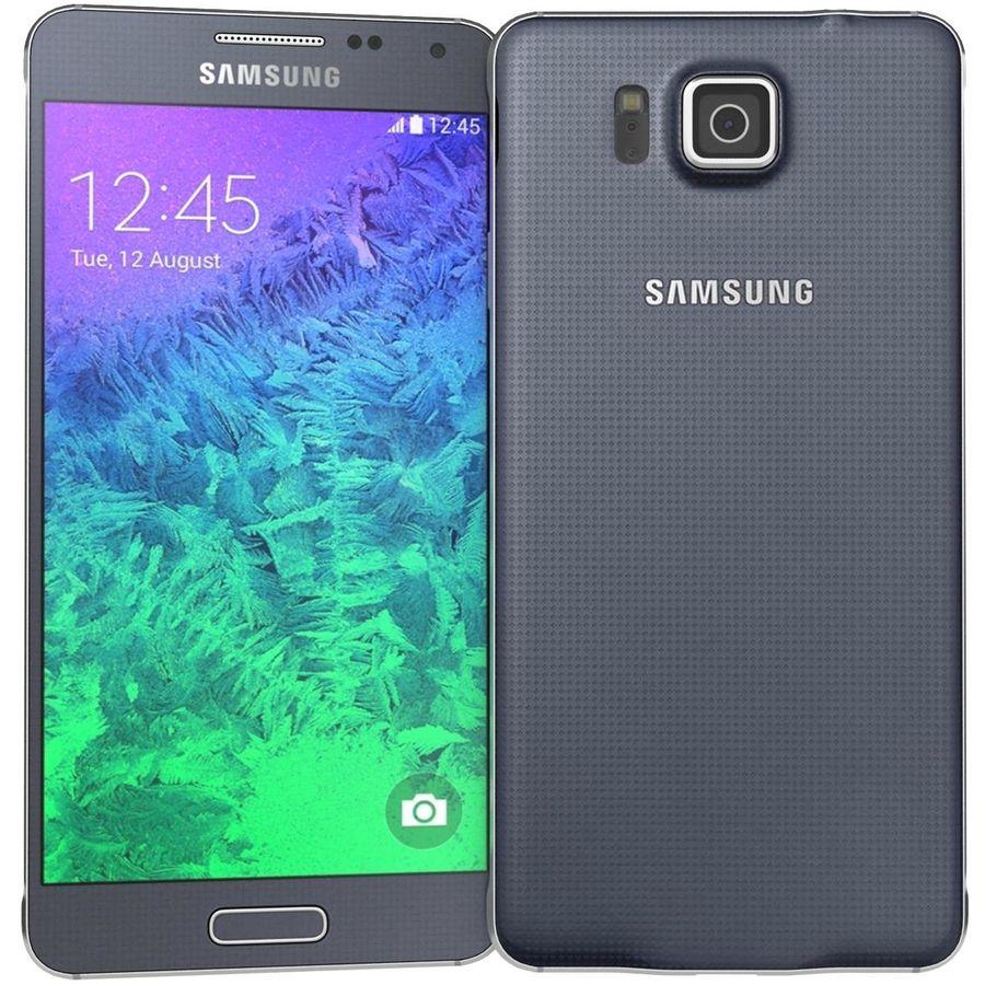 Samsung Galaxy Alpha Preto Carvão royalty-free 3d model - Preview no. 4