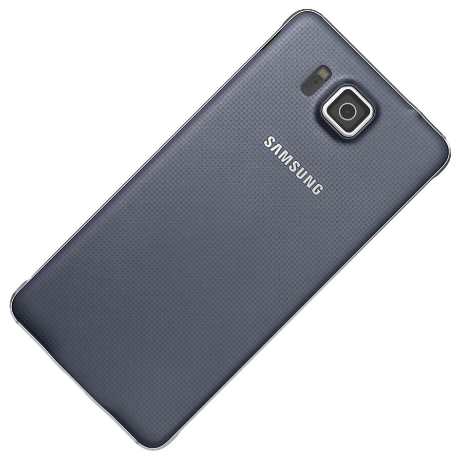 Samsung Galaxy Alpha Preto Carvão royalty-free 3d model - Preview no. 20