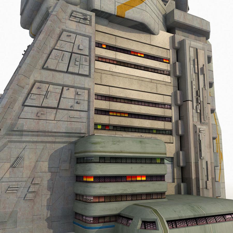 Futurystyczny budynek Sci Fi royalty-free 3d model - Preview no. 4