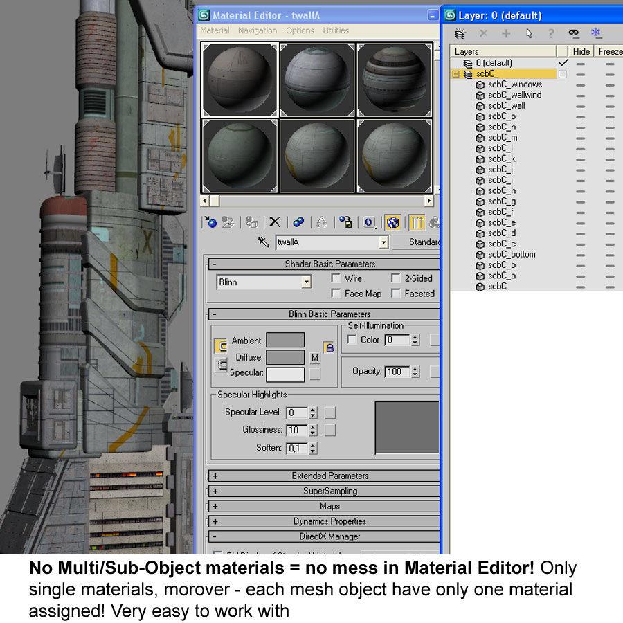 Futurystyczny budynek Sci Fi royalty-free 3d model - Preview no. 13