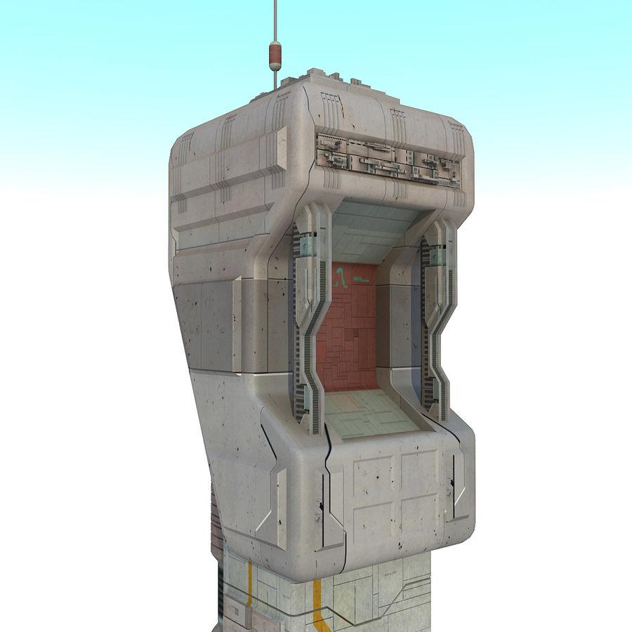 Futurystyczny budynek Sci Fi royalty-free 3d model - Preview no. 10