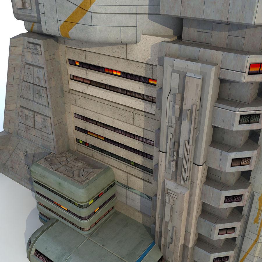 Futurystyczny budynek Sci Fi royalty-free 3d model - Preview no. 8