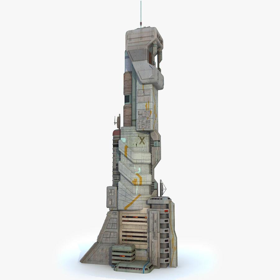 Futurystyczny budynek Sci Fi royalty-free 3d model - Preview no. 2