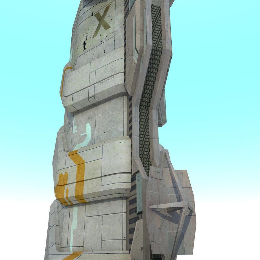 Futurystyczny budynek Sci Fi royalty-free 3d model - Preview no. 9