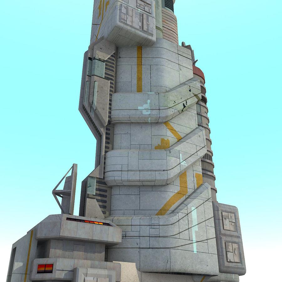 Futurystyczny budynek Sci Fi royalty-free 3d model - Preview no. 6