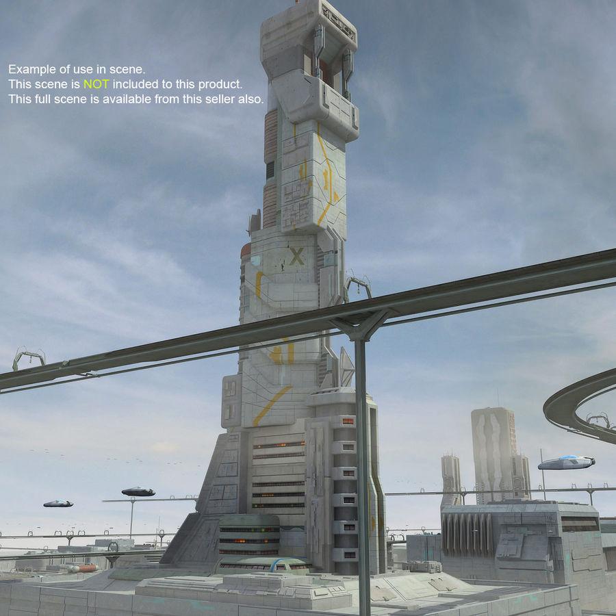 Futurystyczny budynek Sci Fi royalty-free 3d model - Preview no. 15