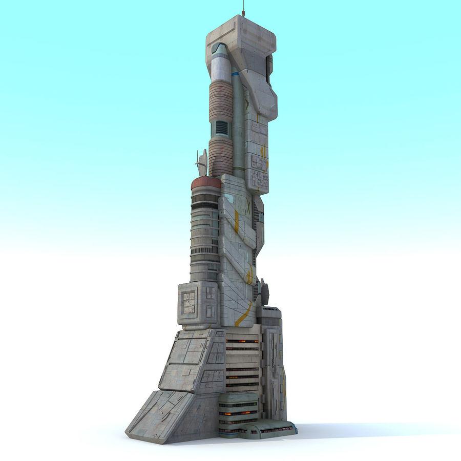 Futurystyczny budynek Sci Fi royalty-free 3d model - Preview no. 3