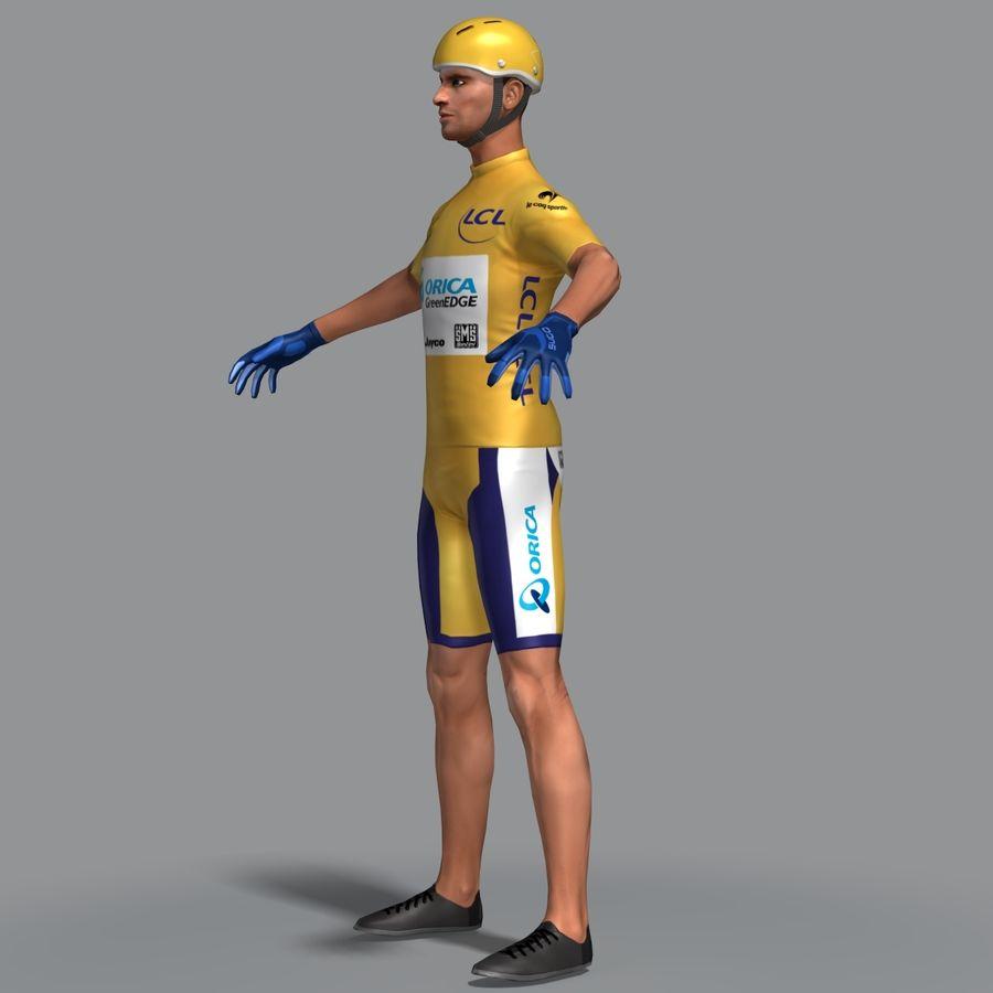 骑单车 royalty-free 3d model - Preview no. 2